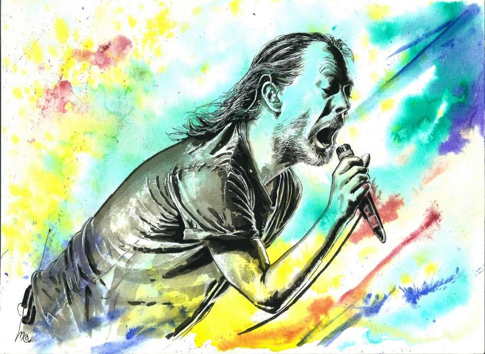 Thom Yorke by mevelie